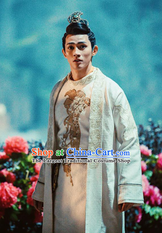 Drama Demon Catcher Zhong Kui Chinese Ancient Master Yang Renzhi Costume and Headpiece Complete Set