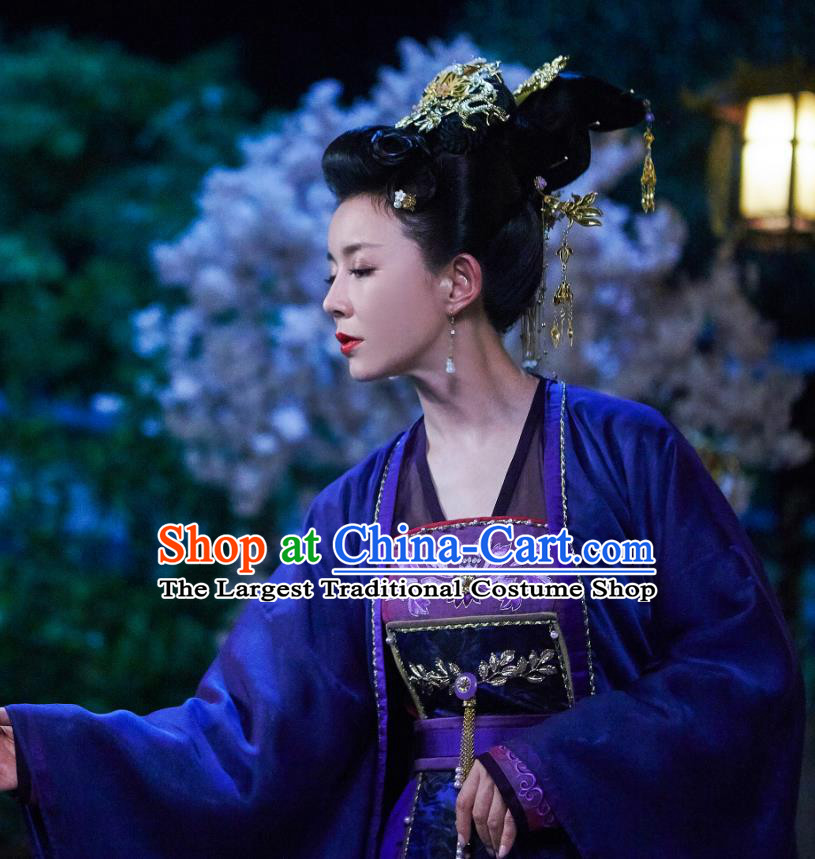 Chinese Ancient Imperial Consort Xia Dress Historical Drama Cinderella Chef Costume and Headpiece for Women