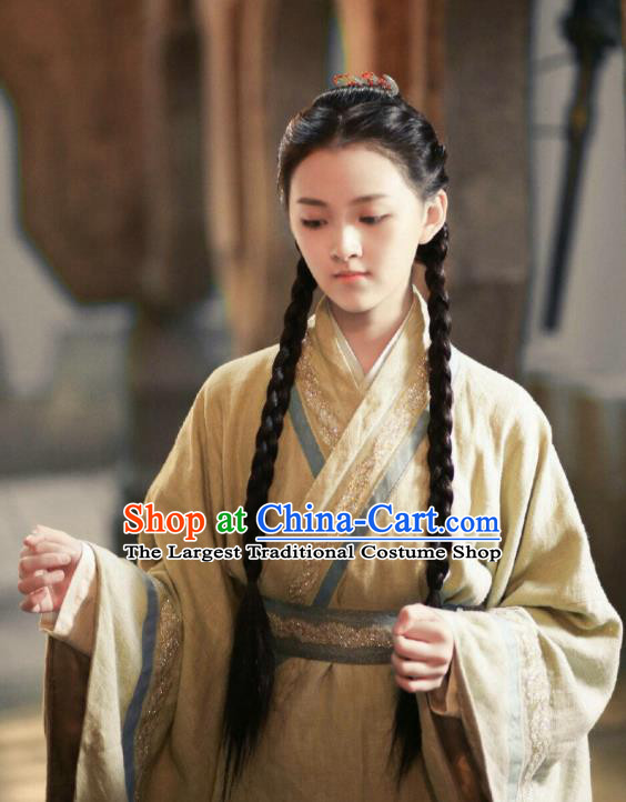 Chinese Ancient Nobility Lady Tang Qian Er Dress Historical Drama The Great Ruler Costume and Headpiece for Women