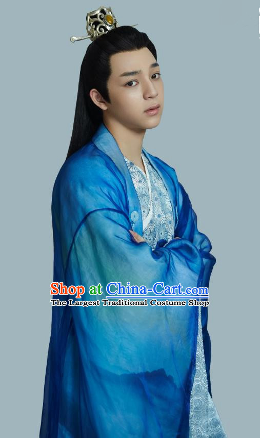 Drama Cinderella Chef Chinese Ancient Royal Prince Xia Chunyu Costume and Headpiece Complete Set