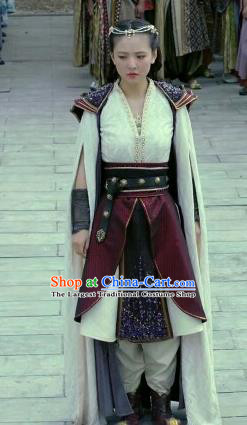 Chinese Ancient Tang Dynasty Ye Yuanan Dress Historical Drama An Oriental Odyssey Costume and Headpiece for Women