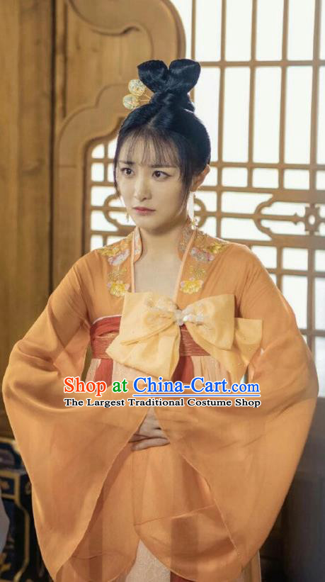 Chinese Ancient Court Lady Kang Ning Er Dress Historical Drama Dr Cutie Costume and Headpiece for Women