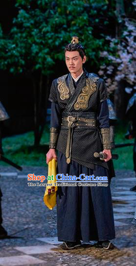 Drama Cinderella Chef Chinese Ancient Swordsman Costume and Headpiece Complete Set