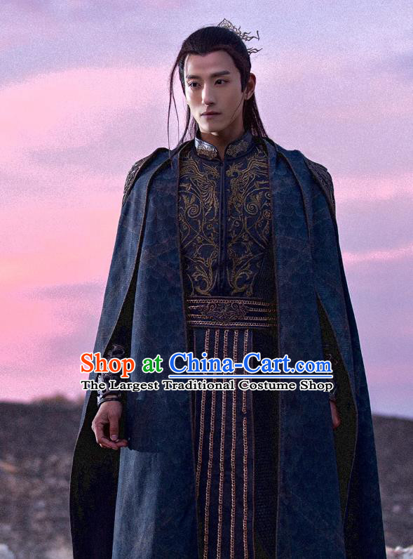 Drama The Legend of Jade Sword Chinese Ancient Swordsman Dong Qi Costume and Headpiece Complete Set
