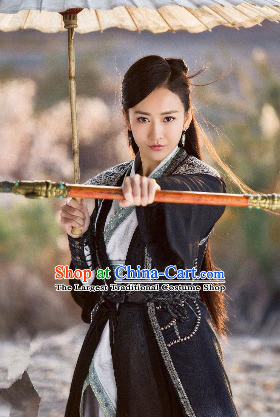 Chinese Historical Drama The Legend of Jade Sword Ancient Swordsman Yu Wei Wang Ou Costume and Headpiece for Women