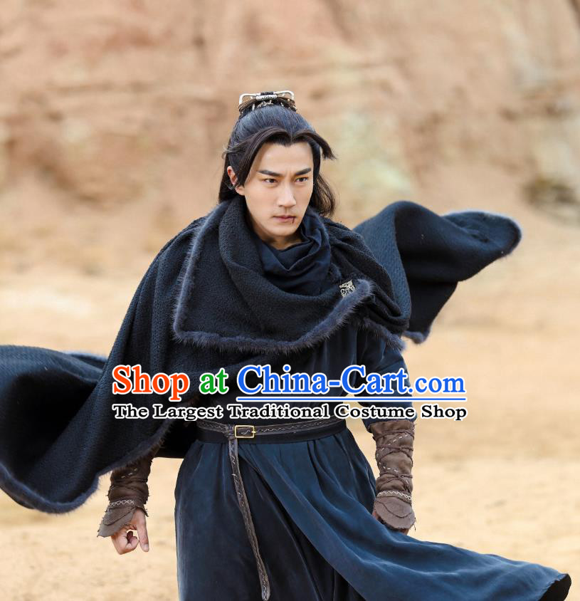 Drama The Legend of Jade Sword Chinese Ancient Hero Swordsman Ji Ning Hawick Lau Costume and Headpiece Complete Set