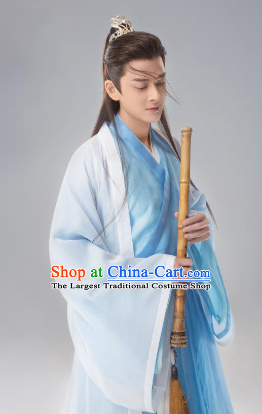 Chinese Ancient West Sea Prince Su Moye Drama Sansheng Sanshi Pillow Eternal Love of Dream Costume and Headpiece Complete Set