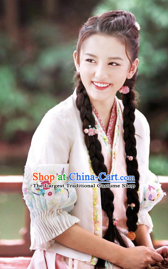 Chinese Ancient Ming Dynasty Captress Xia Yingying Dress Historical Drama The Dark Lord Costume and Headpiece for Women