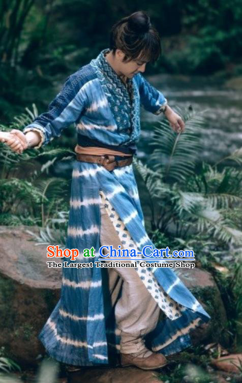 Drama The Dark Lord Chinese Ancient Ming Dynasty Castellan Ye Xiaotian Costume and Headpiece Complete Set