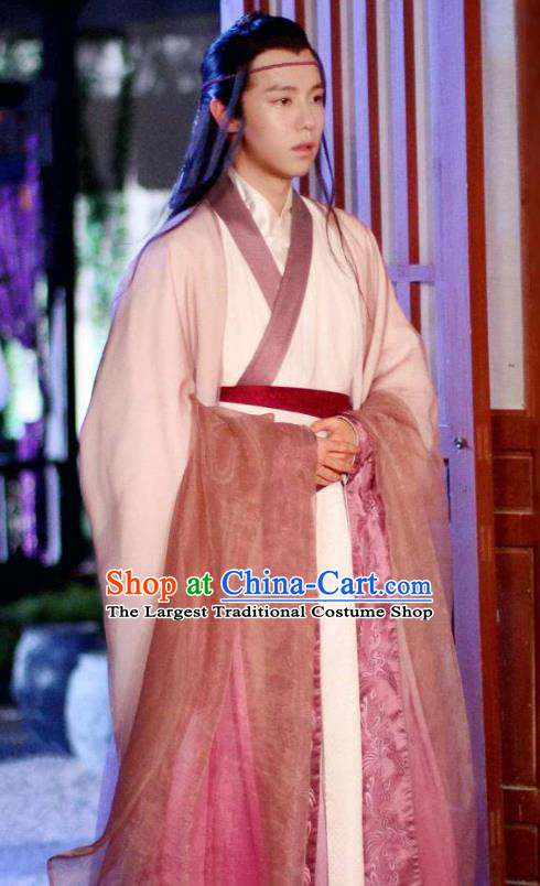 Chinese Ancient King Ling Guang Hanfu Robe Drama Men with Sword Male Costumes and Hair Accessories