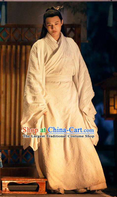 Chinese Ancient Musician of Li Clothing Drama Love of Thousand Years Fu Jiuyun Costumes and Hair Pin