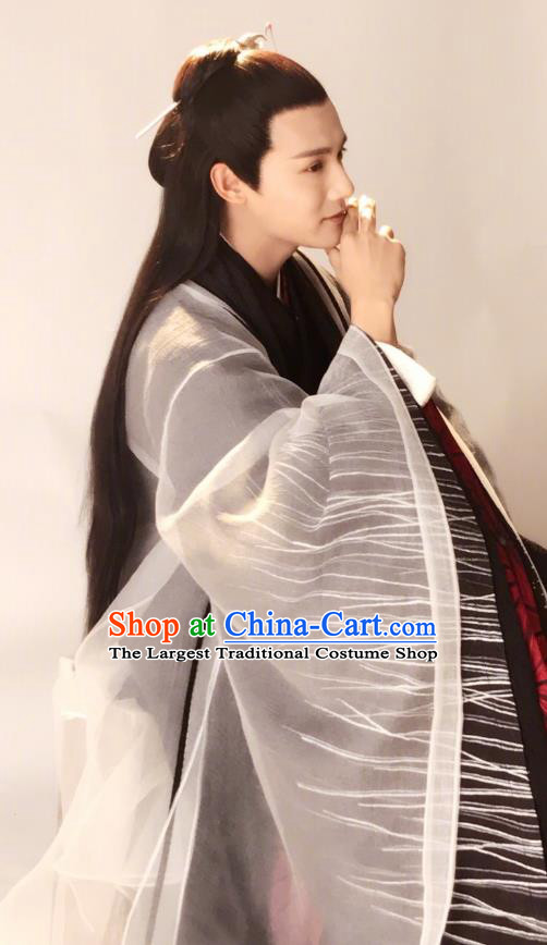 Chinese Ancient Musician Hanfu Clothing and Headwear Drama Love of Thousand Years Childe Fu Jiuyun Historical Costumes