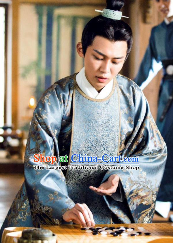 Chinese Ancient Prince Hanfu Clothing and Jade Hairpin Drama Love of Thousand Years Childe Li Yuan Historical Costumes
