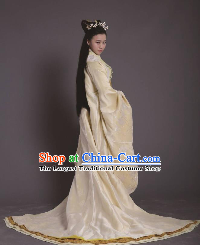 Chinese Ancient Zhou Dynasty Queen Dress Historical Drama King Is Not Easy Princess Costumes and Hair Accessories