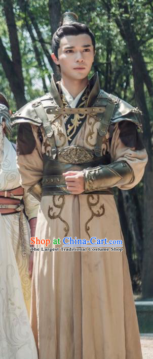 Chinese Ancient Swordsman Xiao Qianqiu Clothing and Jade Hairpin Drama The Taosim Crandmaster Costumes and Headwear