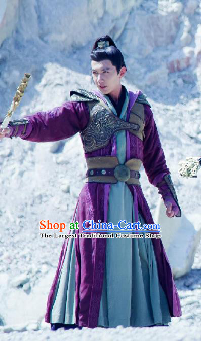 Chinese Ancient Knight Hanfu Clothing and Headdress Drama The Taosim Crandmaster Swordsman Han Shang Costumes