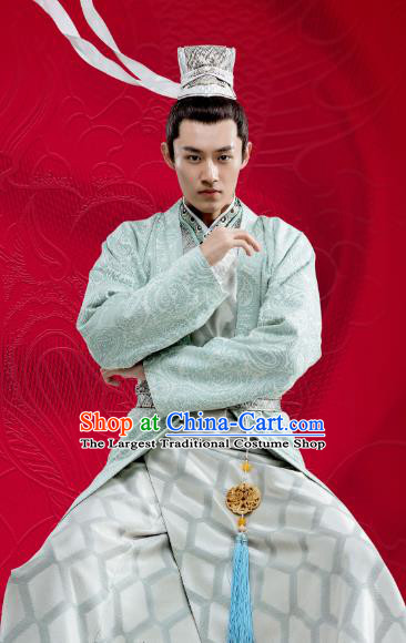 Chinese Ancient Taoist Clothing and Headwear Drama Oh My Emperor Bai Wuchen Costumes