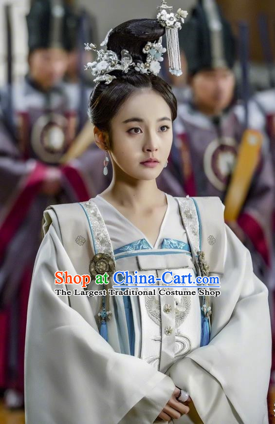 Chinese Ancient Princess Historical Costumes and Hair Accessories Drama Tang Dynasty Tour Li Anlan Hanfu Dress