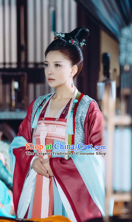 Chinese Ancient Court Maid Historical Costumes and Hair Accessories Drama Tang Dynasty Tour Female Official Wu Shangyi Hanfu Dress