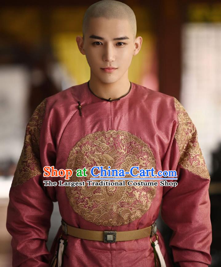 Chinese Ancient Manchu Thirteen Prince Garment Drama Dreaming Back to the Qing Dynasty Aisin Gioro Yun Xiang Gown Apparel Costumes