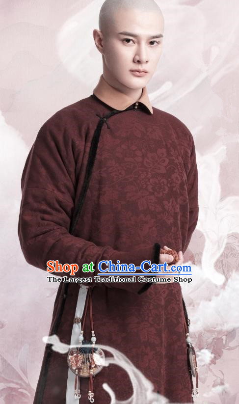 Chinese Ancient Manchu Fourth Prince Aisin Gioro Yinzhen Garment Drama Dreaming Back to the Qing Dynasty Gown Apparel Costumes