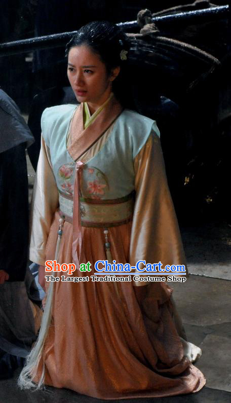 Chinese Ancient Ming Dynasty Hanfu Dress Garment and Headwear Drama The Great Shaolin Courtesan Li Zhenzhen Costumes