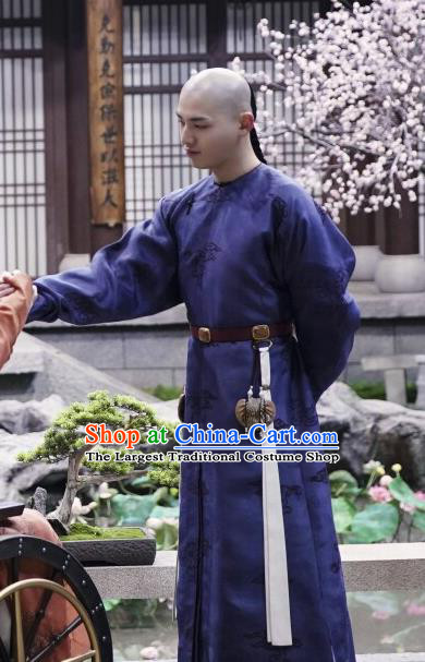 Chinese Ancient Manchu Prince Apparels Costumes Garment Drama Dreaming Back to the Qing Dynasty Thirteen Aisin Gioro Yinxiang Gown