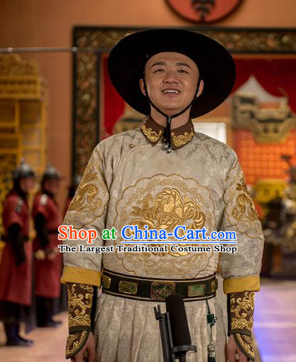 Chinese Ancient Apparels Garment and Hat Wuxia Drama Happy Mitan Civilian Niu Dabao Costumes
