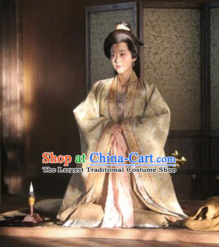 Chinese Ancient Queen Apparels Garment Court Lady Hanfu Dress and Headpieces Drama Control by Zhen Guan Empress Zhangsun Costumes