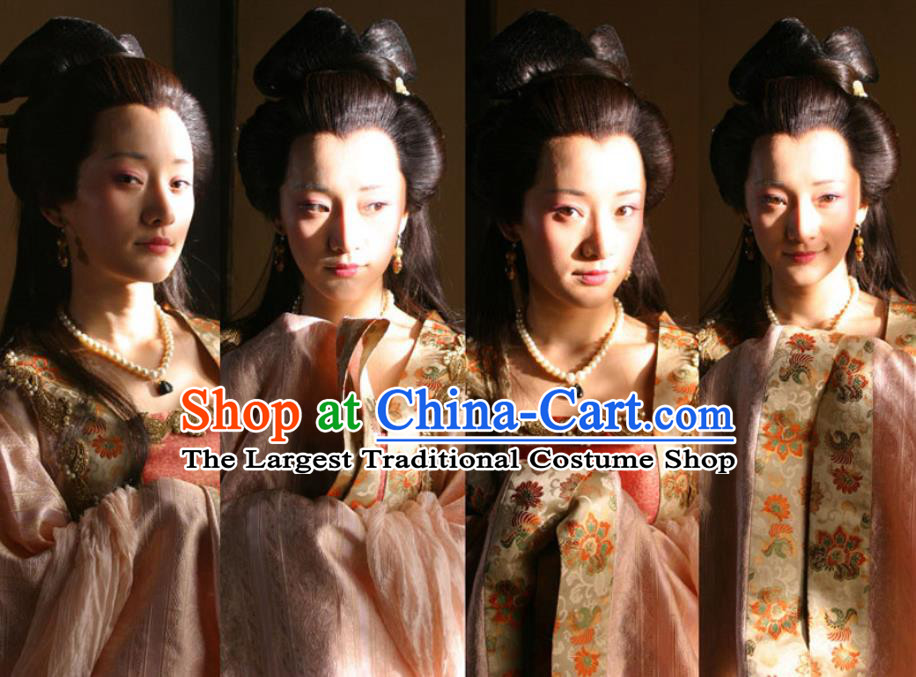 Chinese Ancient Princess Gaoyang Apparels Garment Court Lady Hanfu Dress and Headpieces Drama Control by Zhen Guan Costumes