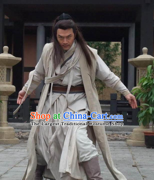 Chinese Ancient Swordsman Costumes Apparels Garment Drama Butterfly Sword Lv Xiangchuan Costumes and Headwear