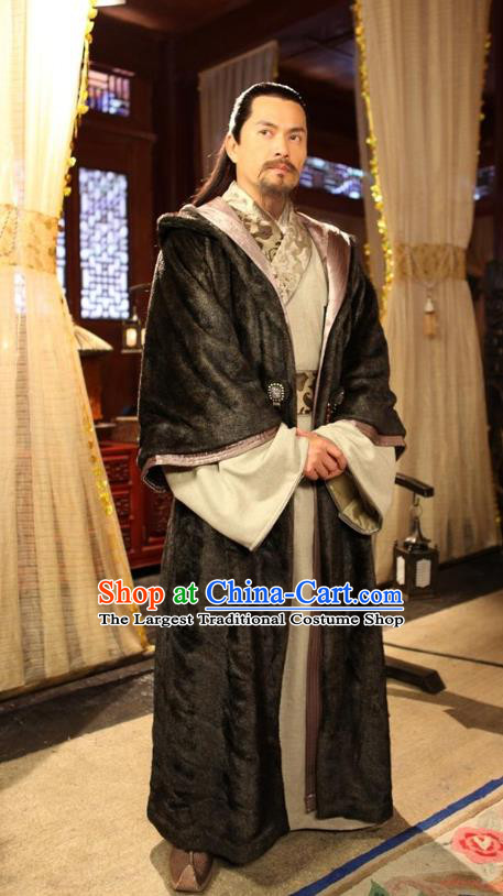 Chinese Ancient Yunnan Costumes Apparels Garment Drama Turbulence of the Mu Clan Ethnic Royal Highness Mu Qing Clothing and Headwear