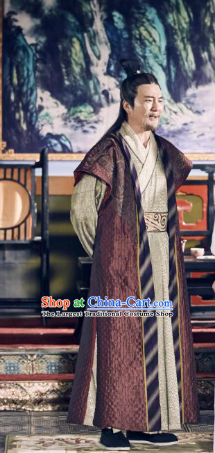 Chinese Ancient Milord Apparels Knight Costumes and Headwear Wuxia Drama Xiya Xia Old Swordsman Garment