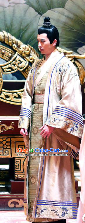 Chinese Ancient Crown Prince Garment Costumes and Headwear Drama I am A Pet At Dali Temple Dauphin Apparels