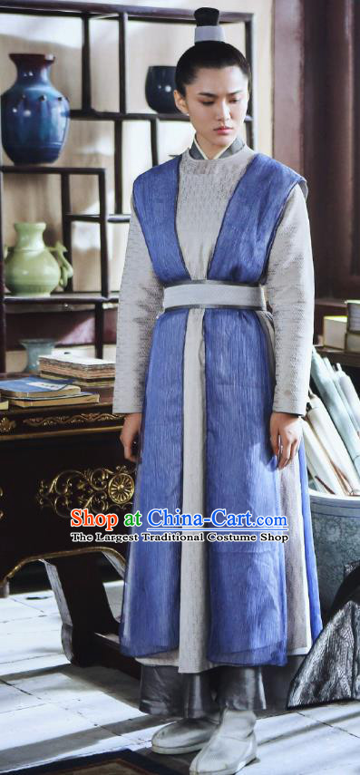 Chinese Ancient Swordswoman Garment Costumes and Hair Accessories Drama I am A Pet At Dali Temple Medical Official Chang Hen Dress