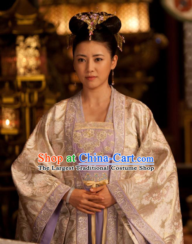 Chinese Ancient Infanta Garment Costumes and Hair Accessories Drama The World of Love Noble Princess Du Siyu Dress