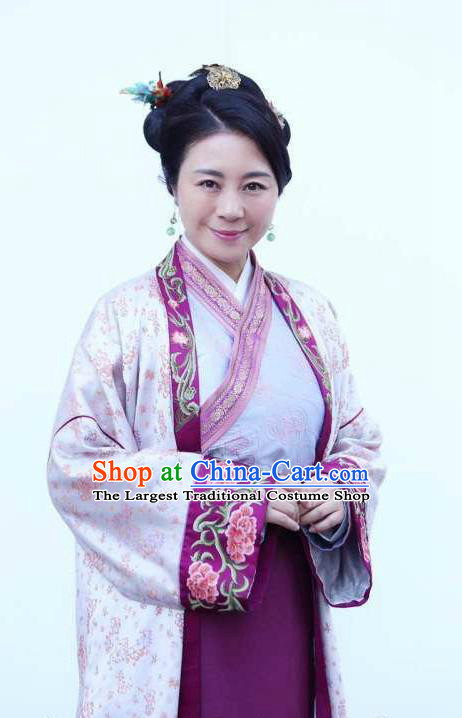 Chinese Ancient Ming Dynasty Mistress Dress Apparels Costumes and Headpieces Drama Legend of the Concubinage Rich Dame Garment