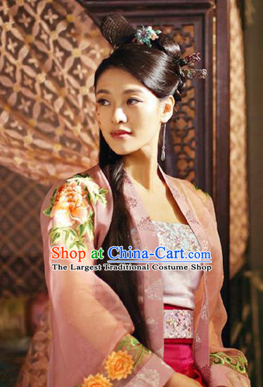 Chinese Ancient Ming Dynasty Dress Apparels Costumes and Headpieces Drama Legend of the Concubinage Female Swordsman Qin Zhiruo Garment