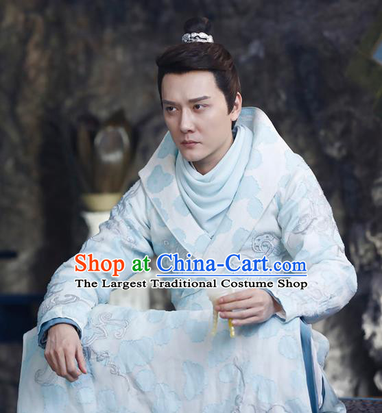 Chinese Ancient Prince Hanfu Garment Costumes and Headwear Drama The Starry Night The Starry Sea Merman Wu Julan Apparels