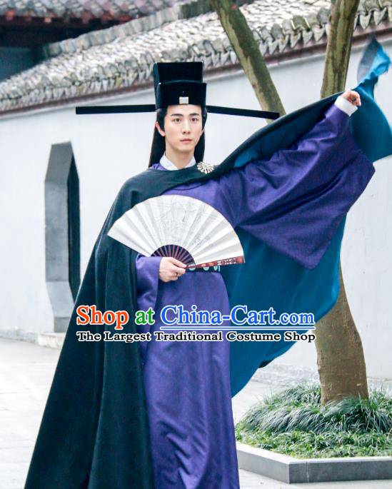 Chinese Ancient Song Dynasty Official Costumes and Headwear Drama Kai Feng Qi Tan Magistrate Bao Zheng Garment Apparels