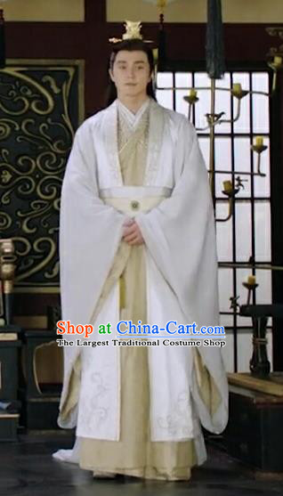 Chinese Ancient Emperor of Cheng Yu Kingdom Garment Drama Eternal Love of Dream Mortal Song Xuanren Costumes and Headwear