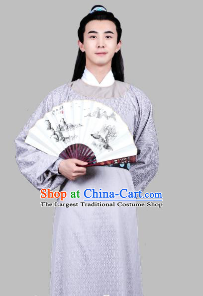 Chinese Ancient Song Dynasty Scholar Apparels Costumes and Hair Accessories Drama Kai Feng Qi Tan Bao Zheng Robe Garment