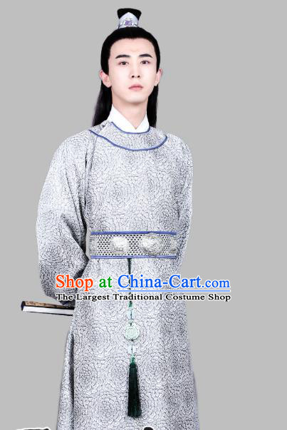 Chinese Ancient Song Dynasty Apparels Costumes and Hair Accessories Drama Kai Feng Qi Tan Gifted Scholar Bao Zheng Robe Garment
