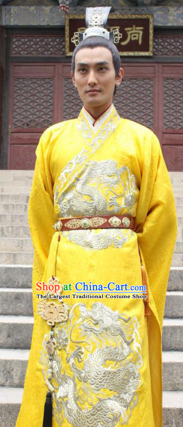 Chinese Ancient Emperor Imperial Garment Clothing and Headwear Drama The Empress Ling Xuan Apparels