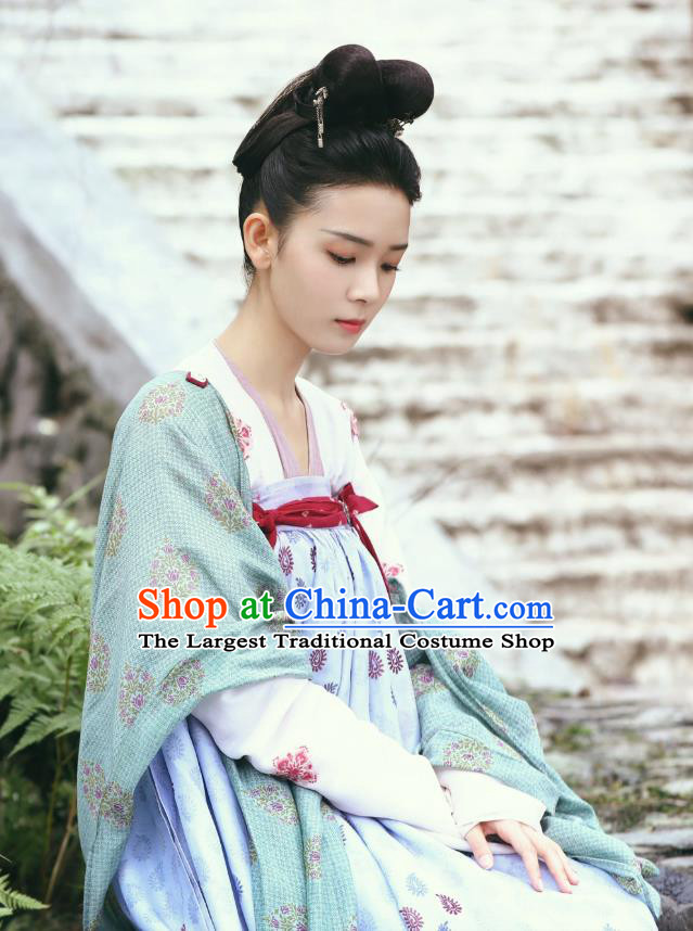 Chinese Ancient Tang Dynasty Hanfu Dress Costumes and Headwear Drama Wu Xin The Monster Killer Liu Qingluan Apparels Garment