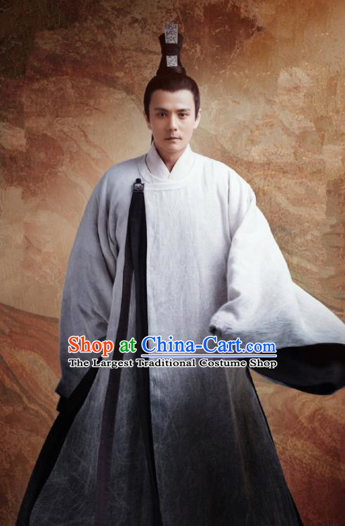 Chinese Ancient Taoist Tang Dynasty Apparels Garment and Headwear Drama Wu Xin The Monster Killer Wizard Chang Ming Clothing