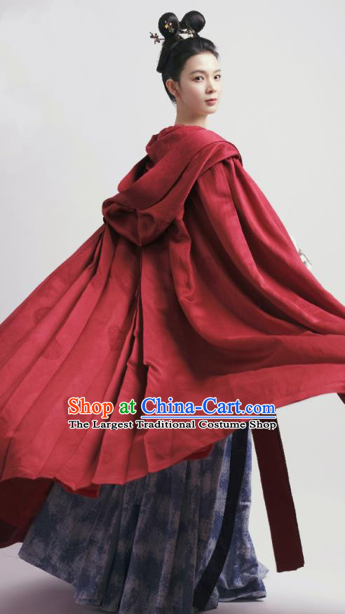 Chinese Ancient Court Lady Hanfu Dress Tang Dynasty Apparels Costumes and Headdress Drama Wu Xin The Monster Killer Liu Qingluan Garment
