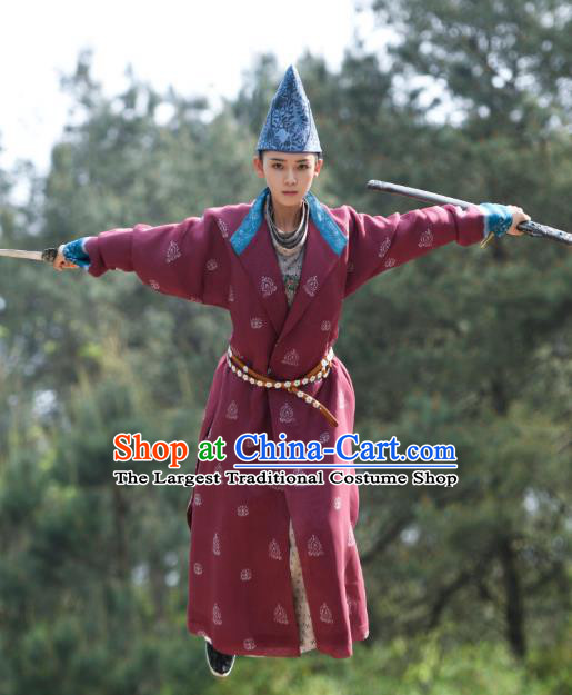 Chinese Ancient Tang Dynasty Taoist Garment Clothing and Headwear Drama Wu Xin The Monster Killer Swordsman Liu Qinghu Apparels