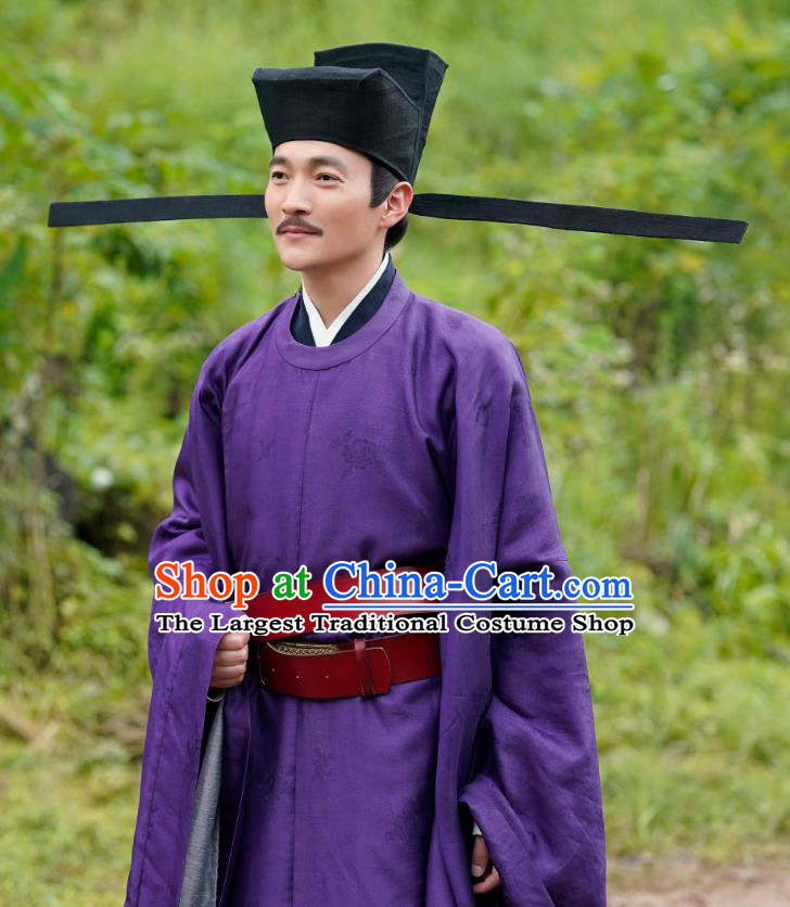 Chinese Ancient Song Dynasty Official Garment Clothing and Hat Drama Serenade of Peaceful Joy Prime Minister Yan Shu Apparels