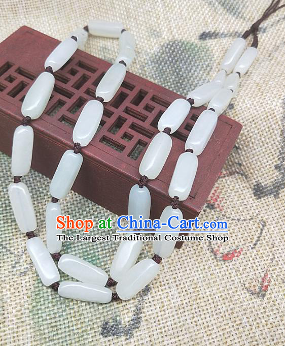 Chinese Ancient Hanfu Jade Necklace Accessories Hetian Jade Jewelry Necklet